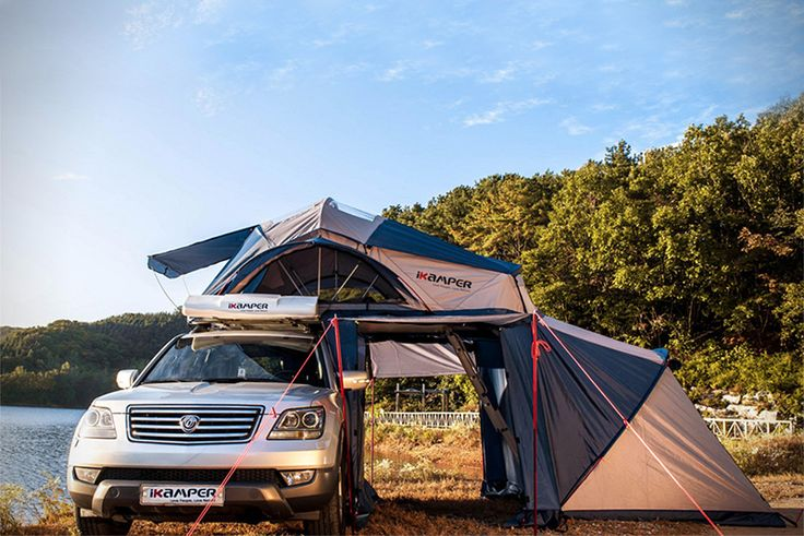 GO CAMPING OR ON A ROAD TRIP WITH THIS ROOF TOP TENT