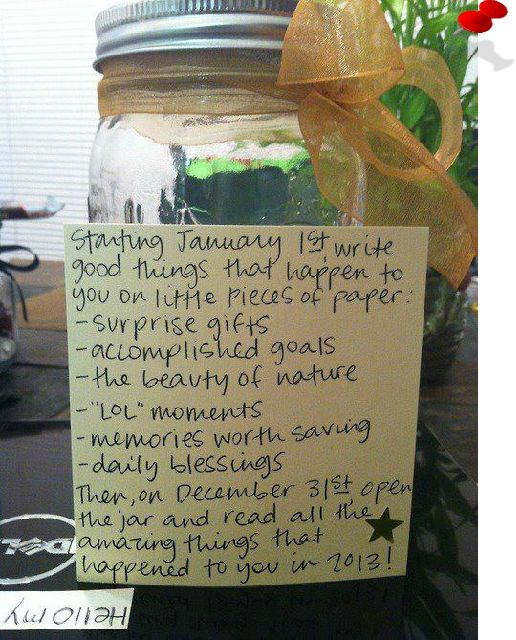 Inspirational | Gratitude Jar, plan for this year. Not sure it will happen every day, but I will try.