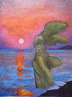 suggestioni - tagliaBat = Battaglia  I wanted to paint the NIKE of Samothrace on thesea  shore at sunrise