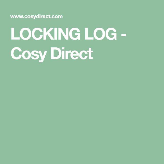 LOCKING LOG - Cosy Direct