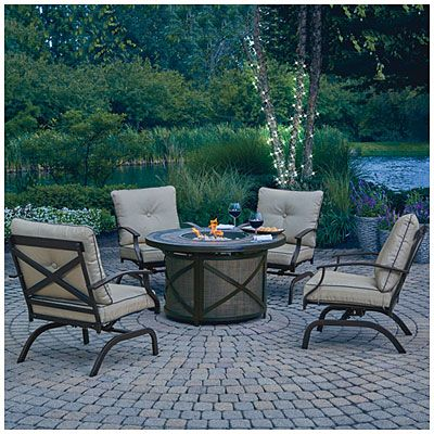 Wilson Amp Fisher 174 Santa Fe 5 Piece Fire Table Chat Set At