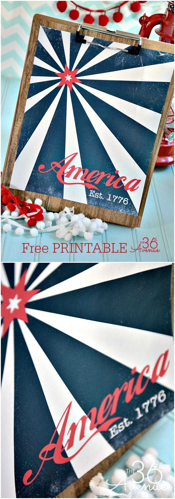 Fourth of July FREE PRINTABLE  at the36thavenue.com