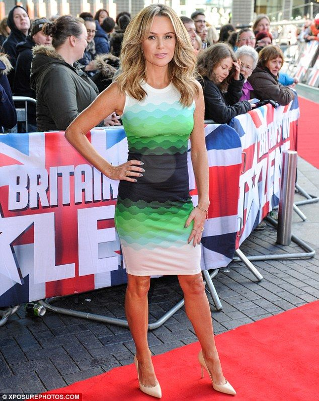 Amanda Holden in patterned dress