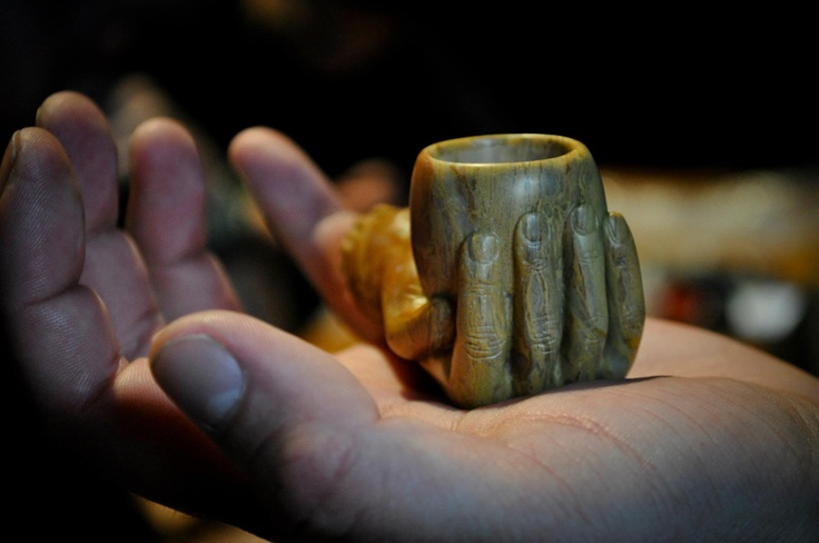 Zakk's Hand Pipe. Carved by hand from Pyralite.