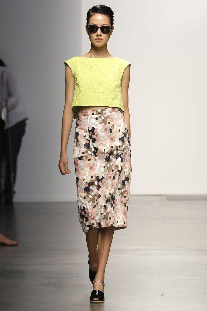 Rachel Comey Spring 2013: Colors Combos, Rachel Comey, Rachelcomey, Crop Tops, Fashion Week, Comey Spring, Midi Pencil Skirts, Spring 2013, Nyfw Ss13