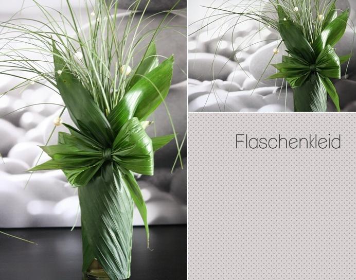 Dekorative Verpackung:  (das Kokosblatt verpackt eine Schnapsflasche und sieht klasse, als Geschenk aus...)    (schaut bei Saskias Blog ...)