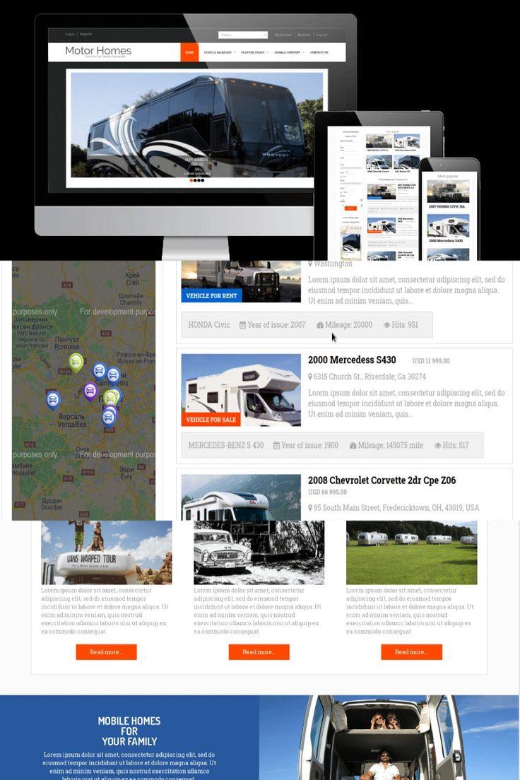 Motorhomes Joomla camping template in 2020 Templates