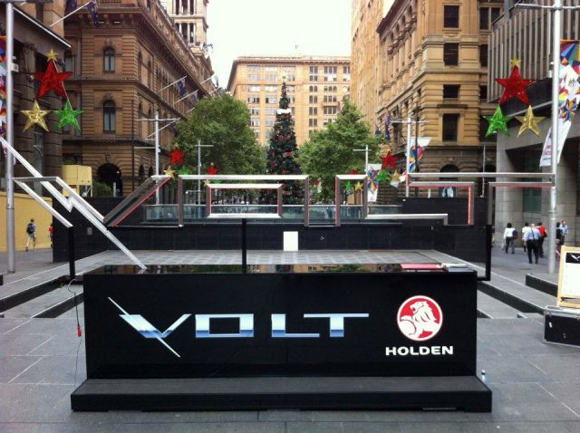 Interactive Installation built by BKI for Holden Product Launch of The Volt