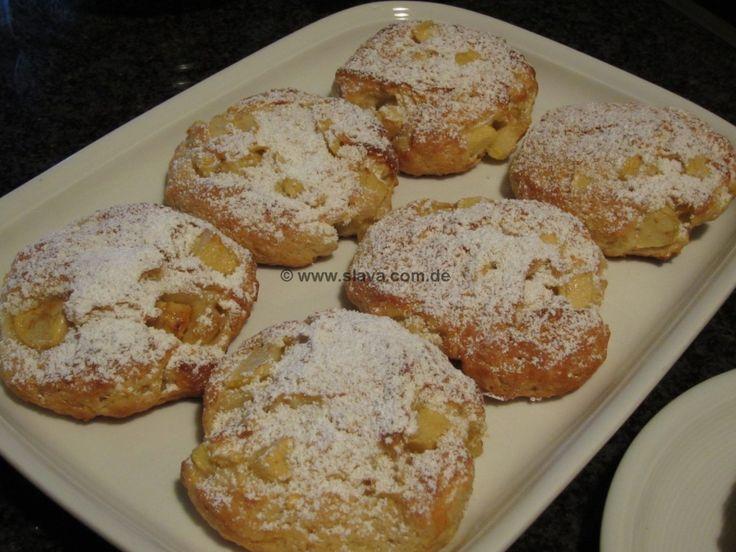 schnelle leckere Apfeltaler « kochen & backen leicht gemacht mit Schritt für Schritt Bilder von & mit Slava