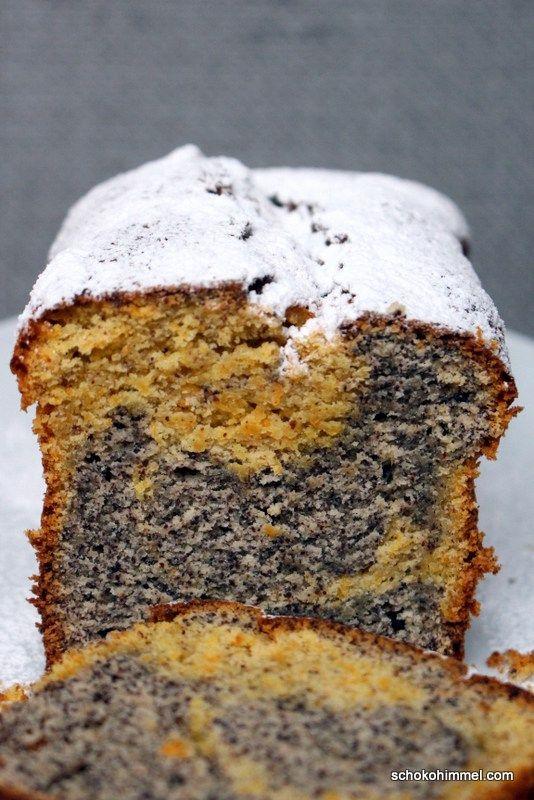 Mohn Möhren Marmorkuchen: Ein Marmorkuchen Der Originellen Art. Also Ohne  Schokolade Oder Kakao, Aber Dafür Mit Leckerem Mohn Und Einem Ultrasaftigen  Teig.