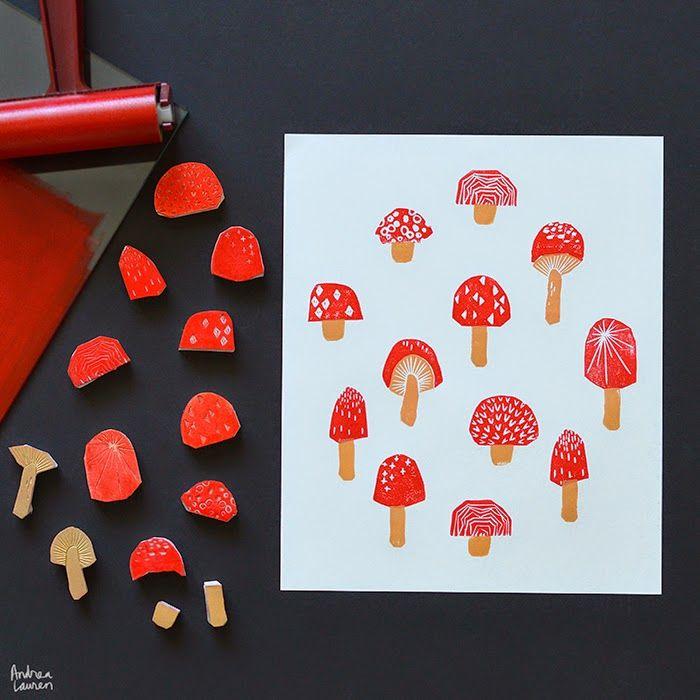 Andrea Lauren - Toadstool Stamps