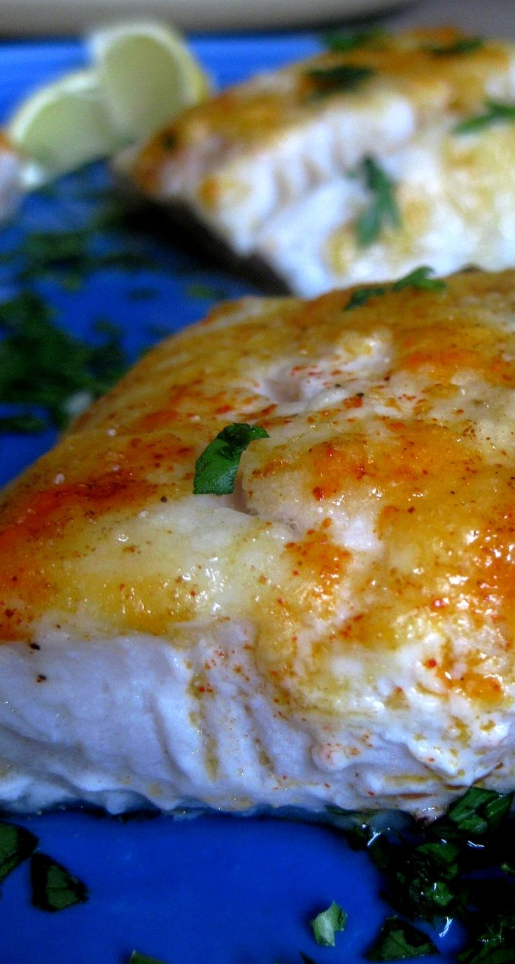 OMG My son thought it taste just like lobster! So delicious! I would not say this is healthy with all th butter! Baked Lemon Cod . . . #fish #healthyfood #yum