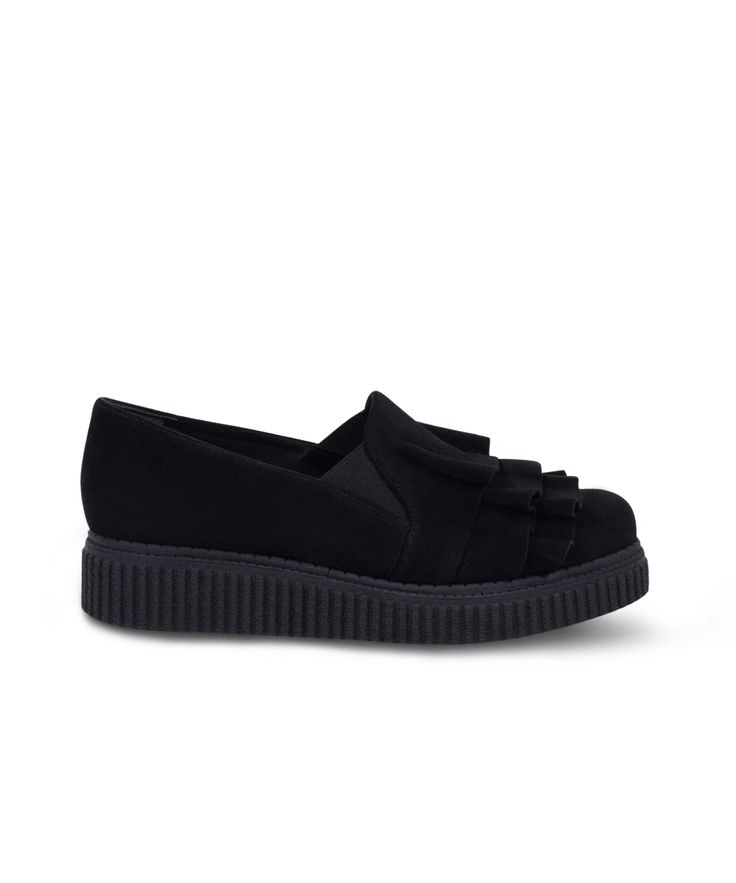 Meraki Creeper Oxford-Slip on with stylish vibes on! Black