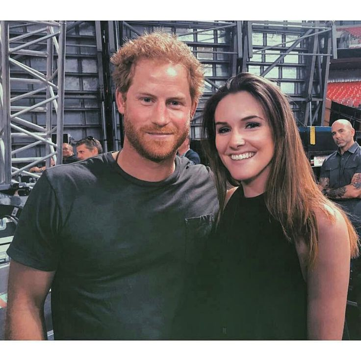 HRH Prince Henry of Wales at Bruce Springsteen concert last night. Here he is with Olivia Tallent, @Springsteen bassist's daughter at backstage. 5th June, 2016.