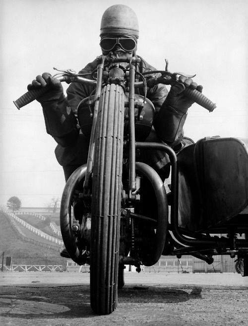 1920's motorcycle with sidecar