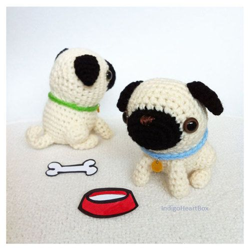 Crochet Pugs - love these guys! Crochet & Amigurumi ...