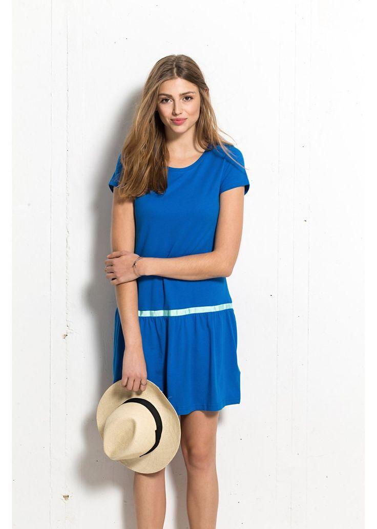 Sukienka Śliczna sukienka z kontrastową • 59.99 zł • bonprix