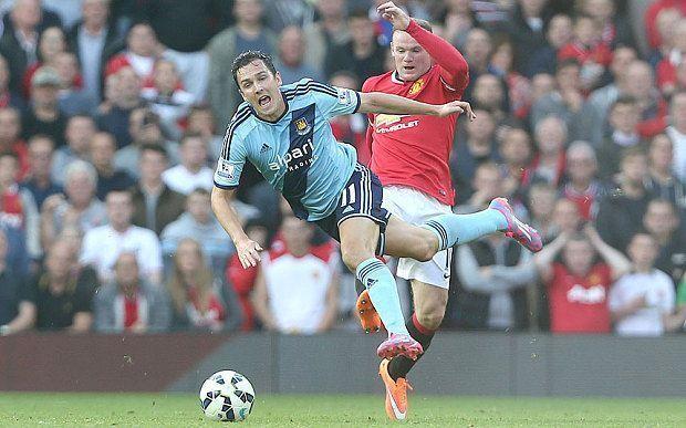 Głupi faul Wayne'a Rooney'a w meczu Premiership • Manchester United vs West Ham United • Czerwona kartka gwiazdy Man Utd • Zobacz >>
