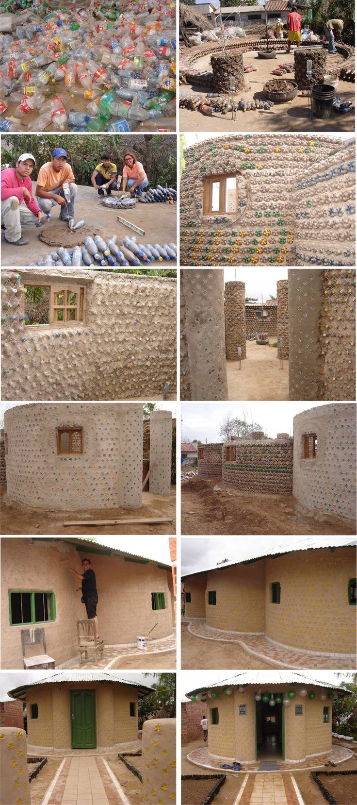 casa de botellas bolivia ingrid vaca diez construcci n pinterest. Black Bedroom Furniture Sets. Home Design Ideas