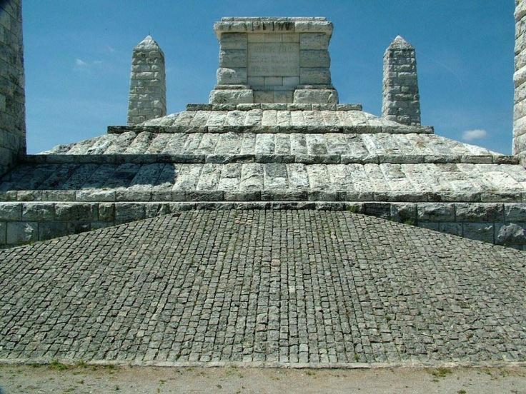 Mound M.R. Stefanik Bradlo. Slovakia  Author of the monument: Arch. Dusan Jurkovic