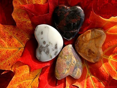stinni:  (via autumn, heart, love, stones, leaves - inspiring picture on Favim.com)