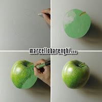 A Green Apple - Drawing (I have a pen, I have a apple #PPAP) - Marcello Barenghi