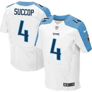 f9f6c24a6 Mens Tennessee Titans 4 Ryan Succop White Road NFL Nike Elite Jersey ...