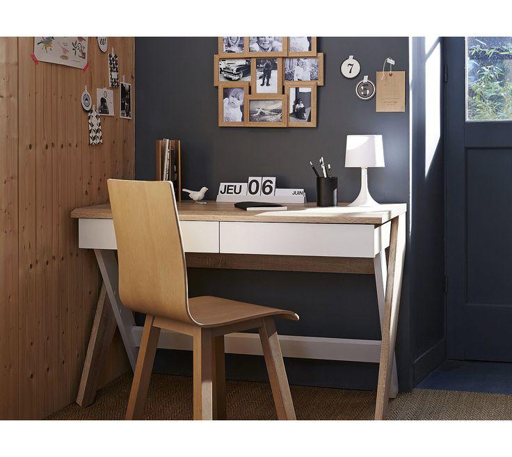 Bureaux Bureau Droit Yoko Chene Blanc Bureau Droit Meuble
