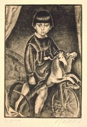 Child with Mechanical Horse. 1919. Dimitris Galanis. Averoff Gallery, Metsovo, Greece.