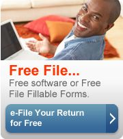 Free File... Free software or Free File Fillable Forms. e-File Your Return for Free (button)