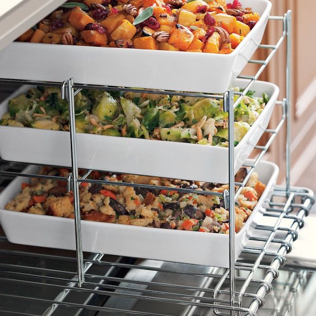 I TOTALLY must have this 3 tiered oven rack!!!! Just in time for holiday cooking!!!
