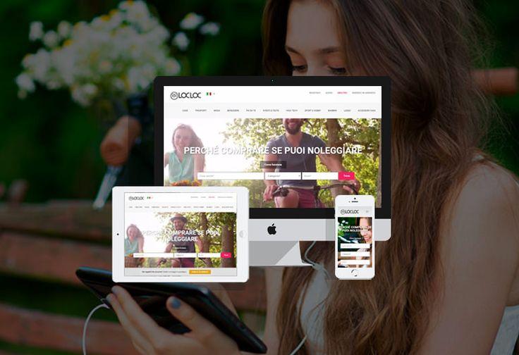 Piattaforma per il noleggio tra privati  Perché comprare se puoi noleggiare?  Questo è il motto di LocLoc.it, l'innovativa piattaforma per il noleggio tra privati, nata da un'idea di Michela Nosé e realizzata nella nuova versione da Sostanza in collaborazione con HouseAdv. #webdesign