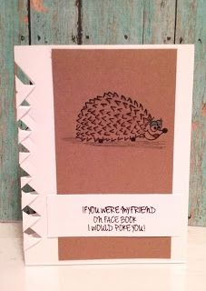 Sassy Cards by Alicia got creative!  Check out the sides of this card.  Watch out!  The hedgehog might poke you :)