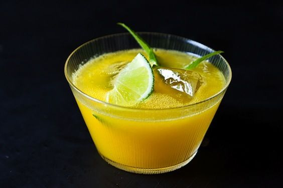 Mango-Mint Limeade (Food 52). Ingredients: 1 pound bag frozen mango, 1 ...