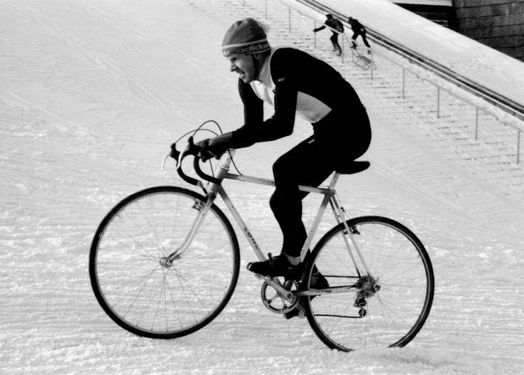 Edward Piech. Cyclo-cross, Warsaw 1987, Stadion 10-lecia.  Photo credit: Jan Rozmarynowski /Forum