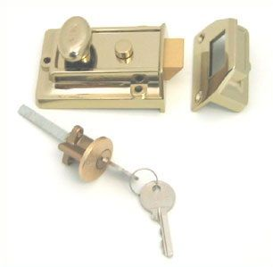Yale Traditional Rim Nightlatch With Cylinder Brasslux - locks & latches - nightlatches - YALE Traditional Rim Nightlatch With Cylinder Brasslux - Timber, Tool and Hardware Merchants established in 1933