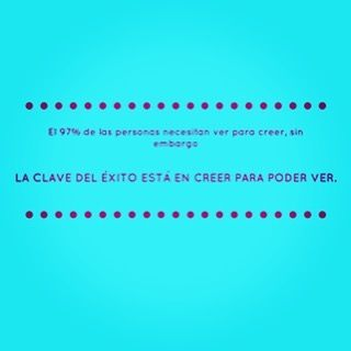 LA CLAVE DEL ÉXITO ESTÁ EN CREER PARA PODER VER !! De acuerdo ? #estilodevida #LilaPardo #solucionesmaravillosas
