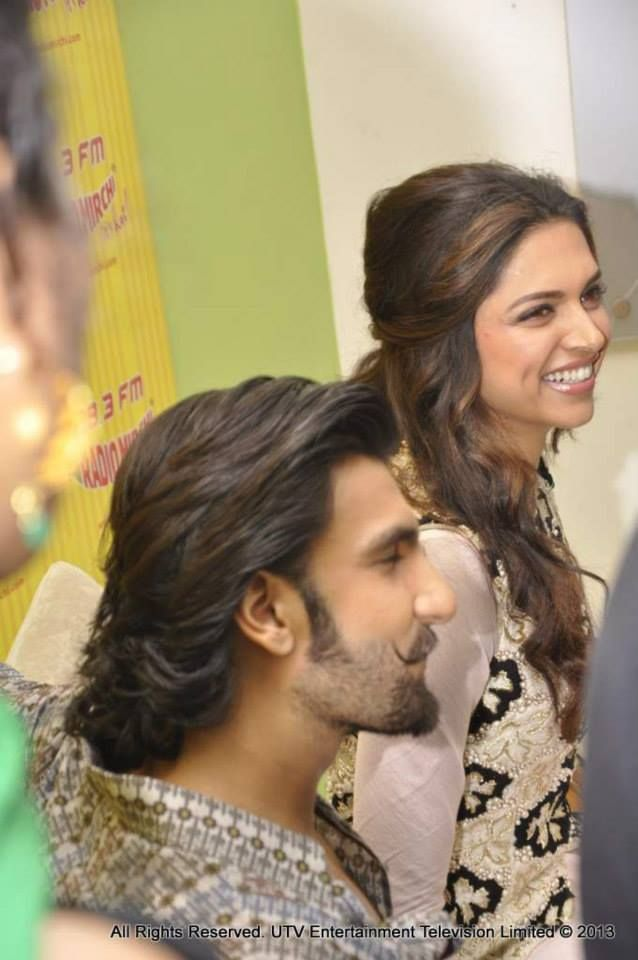 'Ram-Leela' leads Ranveer Singh and Deepika Padukone were all smiles and belly laughs at a promotional event for their film. #Bollywood #Fashion #Style #Beauty