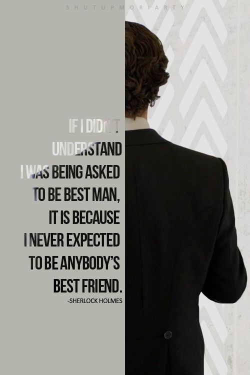 Sherlock as John's best man :')