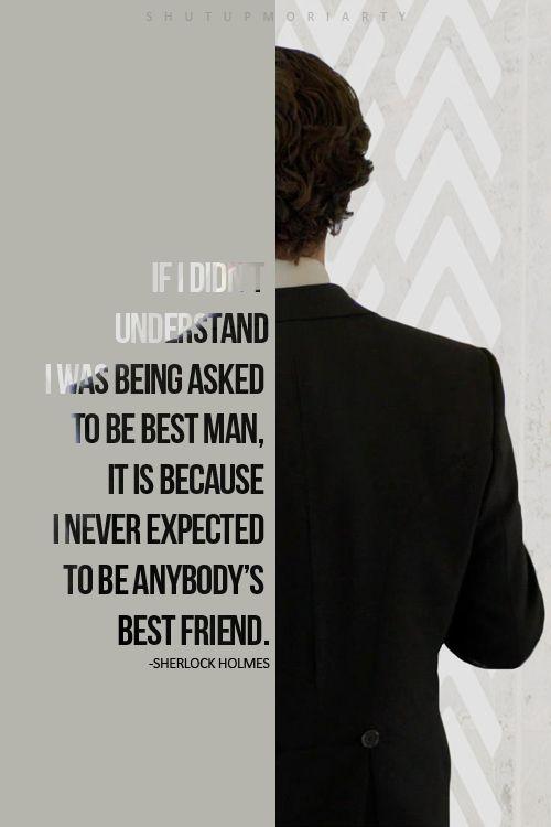 Sherlock as John's best man :')
