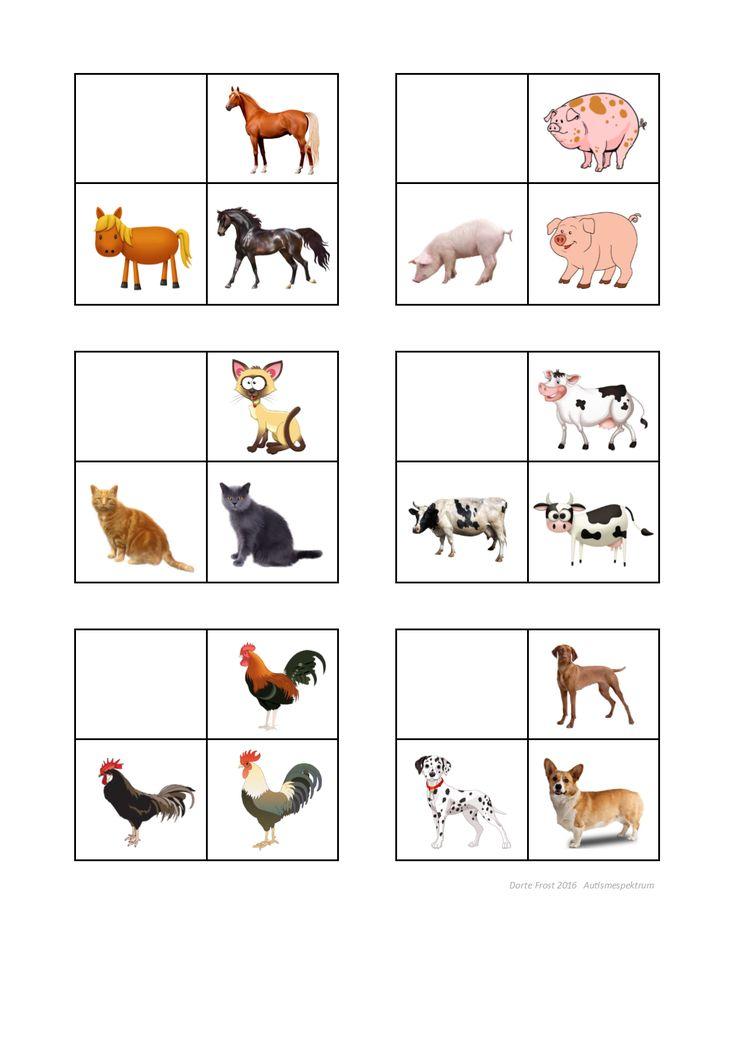 Tiles for the farm animal sorting game. Find the belonging board on Autismespektrum on Pinterest. By Autismespektrum.