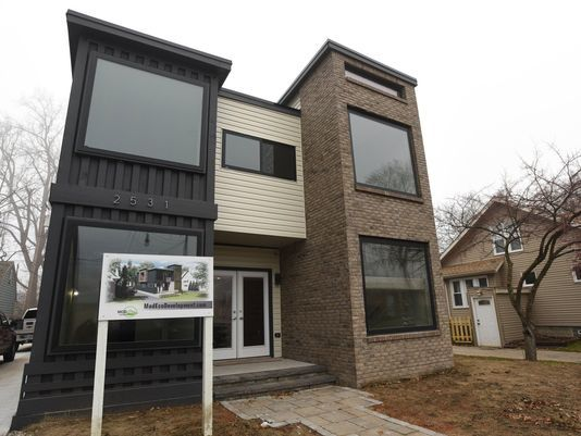 House built of shipping containers goes up in Royal Oak
