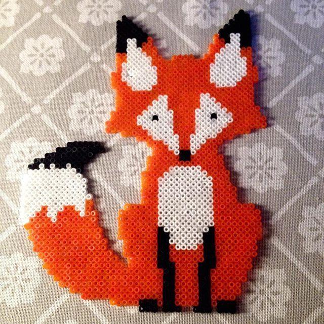 Fox hama beads by theycallme_pg