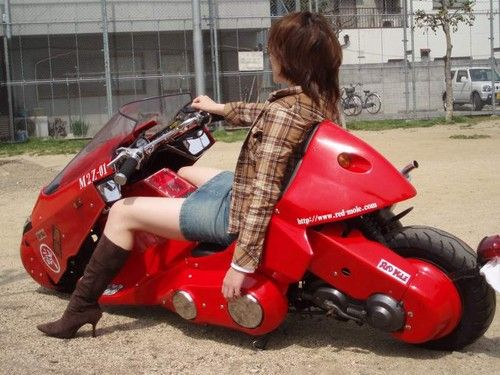 Modded scooter, Futuristic Motorcycle, Akira - http://psipunk.com/modded-scooter-like-akiras-bike-for-neo-tokyo-action/