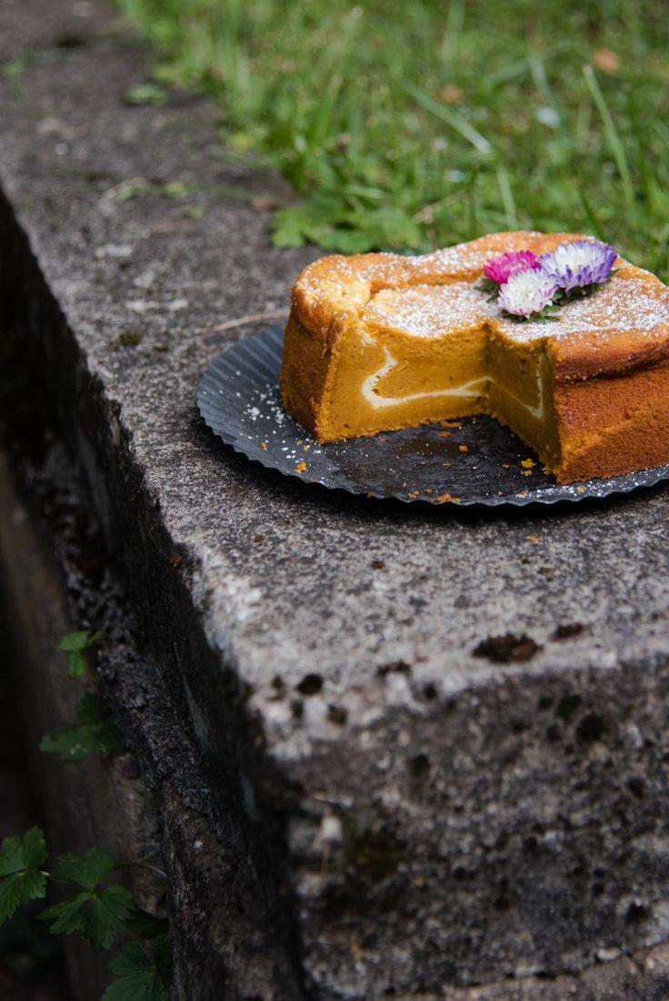 trickytine ♥ super köstlicher kürbiskuchen mit cheesecake füllung – mein backliebling der saison!
