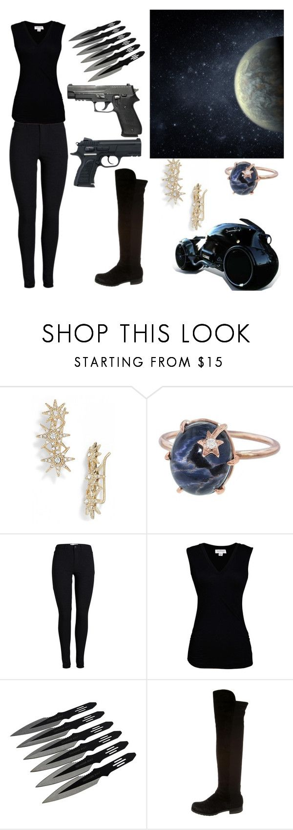 """""""Space assassin"""" by trinitythetrombone ❤ liked on Polyvore featuring Jenny Packham, Spacecraft, Andrea Fohrman, Velvet by Graham & Spencer, Stuart Weitzman and yolo"""
