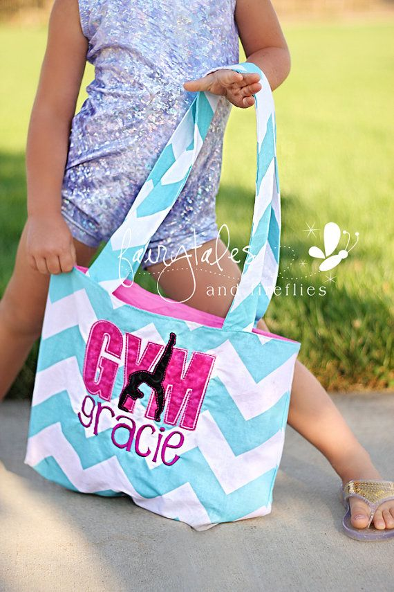 Personalized Girls Gymnastics Bag - Dance Bag - Tote Bag - Slumber Bag - Gym Bag - Gymnastics - Gymnast - Ballet - Dance - Tote - Bag on Etsy, $35.00