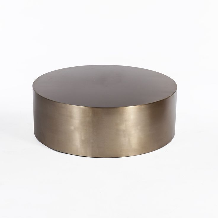 Brass Drum Coffee Table - Round