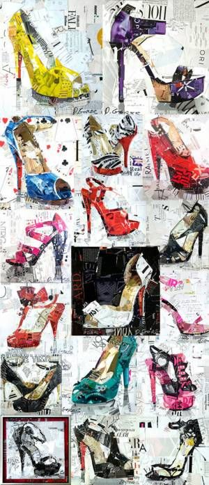 Derek Gores - high heel collages
