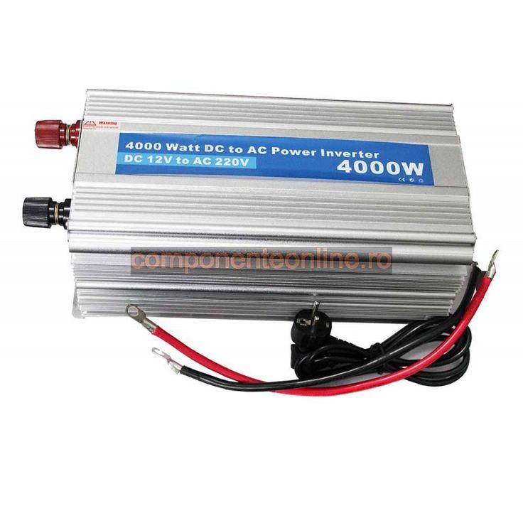 Invertor de tensiune, 12V - 220V AC, 3800W, cu incarcare baterie - 201064